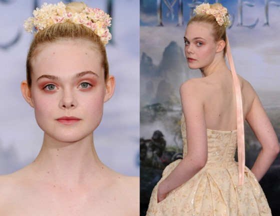 Elle-Fanning-hair-Makeup-Maleficent-Costume-And-Props-Private-Reception-e1399585175568